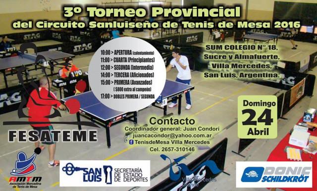 Una delegaci n de merlo participaran del 3 torneo provincial tenis de mesa - Torneo tenis de mesa ...
